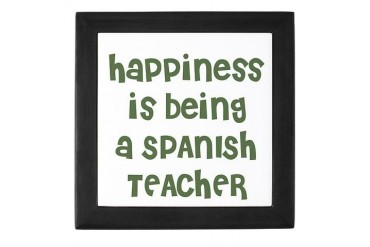 Happiness is being a SPANISH Family Keepsake Box by CafePress