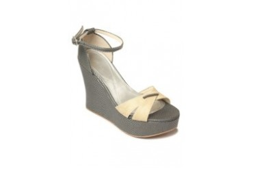 Gray Wedge Sandals