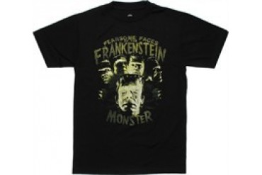 Frankenstein Fearsome Faces of the Frankenstein Monster T-Shirt