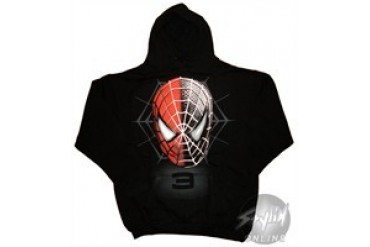 Marvel Comics Spider-Man Faces Hooded Sweatshirt