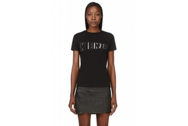 Kenzo Black Embroidered Logo T shirt