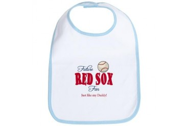 Future Red Sox fan like Daddy Baby Infant Bib