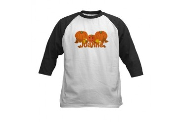 Halloween Pumpkin Joanne Baby Kids Baseball Jersey by CafePress