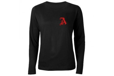 Scarlet Letter - Funny Women's Long Sleeve Dark T-Shirt by CafePress