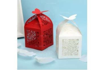 Butterfly Top Cubic Favor Boxes (Set of 12) (050024301)