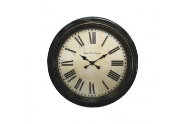 Geneva Clock Company 4649G Antique Black Wall Clock