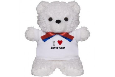 I Love Blank CUSTOM Teddy Bear