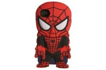 Marvel Comics Amazing Spider-Man Black Red Suit Chara-Cover iPhone 4/4S Rubberized Hard Phone Case