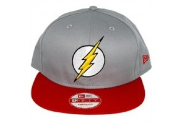 DC Comics Flash Classic Logo Gray 9FIFTY Snapback Embroidered Hat