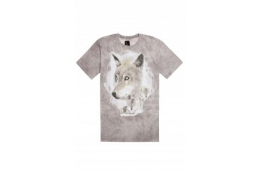 Mens Afends T-Shirts - Afends Gray Wolf T-Shirt