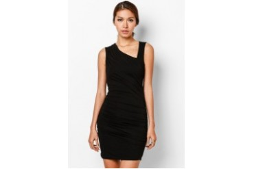 EZRA by ZALORA Asymmetric Sheath Dress