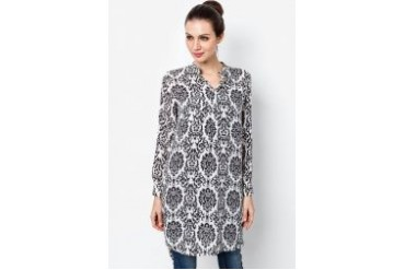 Ethnic Chic Ayu Flowery Long Blouse