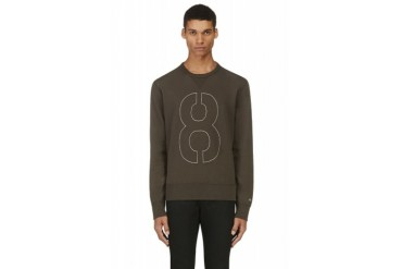 Rag And Bone Grey Number Graphic Sweater