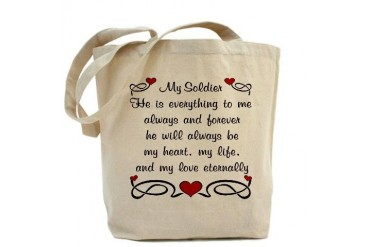 Army Poem of Love Military Tote Bag by CafePress