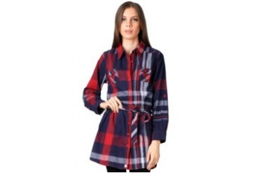 Triset Ladies Long Sleeve Dress Blue