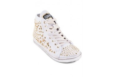 Studded High Cut Sneakers
