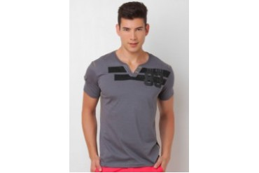 Henley Tee with back print