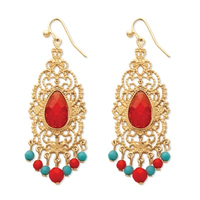 Red crystal scrollwork chandelier earrings price comparison red crystal scrollwork chandelier earrings aloadofball Image collections