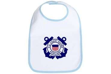 Coast Guard Auxiliary Baby Military Bib by CafePress