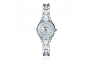 Stainless Steel amp Ivory Metal Petite Watch