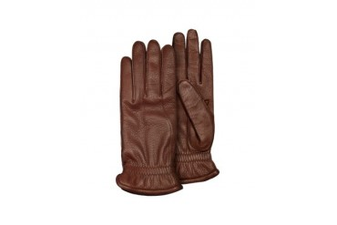 Men's Brown Deerskin Leather Gloves w/ Cashmere Lining