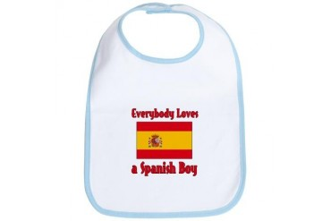 Everybody Loves a Spanish Boy Spanish Bib by CafePress