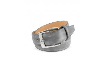 Men's Gray Hand Painted Italian Leather Belt