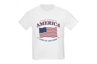 Kids 4th of July American flag T-shirt