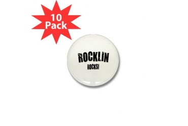 Rocklin Rocks California Mini Button 10 pack by CafePress