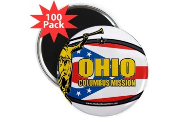 Ohio Columbus LDS Mission Clothing T-Shirts and Gi Gifts 2.25 Magnet 100 pack by CafePress