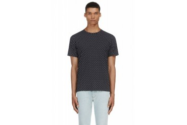 Rag And Bone Navy Printed T shirt