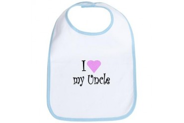 I love my Uncle Baby Bib by CafePress