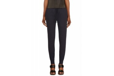 T By Alexander Wang Navy French Terry Lounge Pants