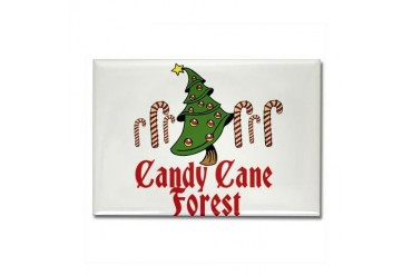 Candy Cane Forest ELF Movies Rectangle Magnet by CafePress