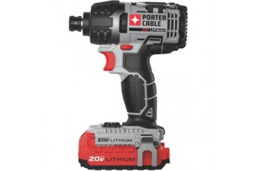 Porter Cable 20V Max Lithium Ion Cordless Impact Driver Kit