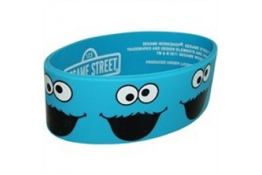 Sesame Street Many Cookie Monster Faces Rubber Wristband