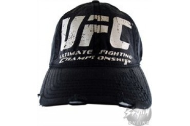 Ultimate Fighting Championship Logo Printed Flexible Distressed Hat