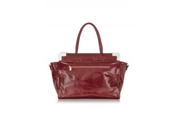 Conversione Burgundy Leather Tote