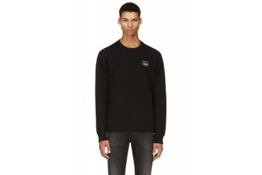 Kenzo Black Tiger Logo Patch Sweatshirt