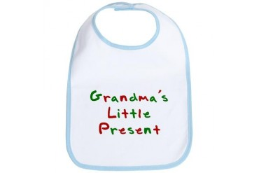 Grandma's Little Present Pets Bib by CafePress