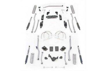 Rubicon Express 3.5 Inch Extreme Duty 4-Link Front/Rear Radius Long Arm Lift Kit with Mono-Tube Shocks JK4R43M Complete Suspension Systems and Lift Kits