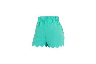 Scallop hem pebble soft short
