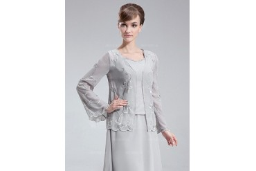 Long Sleeve Chiffon Special Occasion Wrap (013012441)
