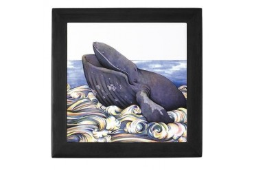 Humpback Whale Whale Keepsake Box by CafePress