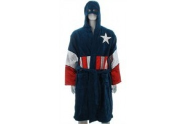 Marvel Comics Captain America Hooded Terrycloth Bath Robe
