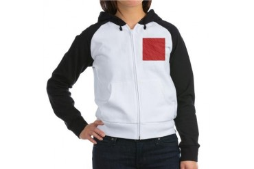 Red Christmas Pattern Holiday Women's Raglan Hoodie by CafePress