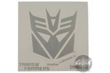 Transformers Silver Logo Stickers