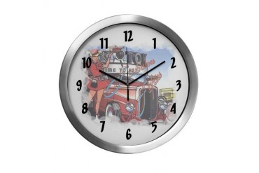 Fabulous Fifties Drive Inn Music Modern Wall Clock by CafePress