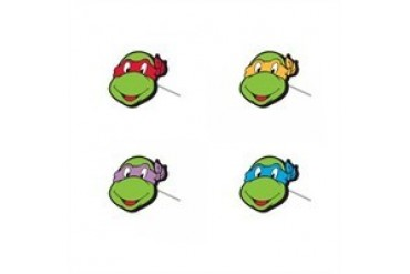Teenage Mutant Ninja Turtles 4 Heads Earrings Set
