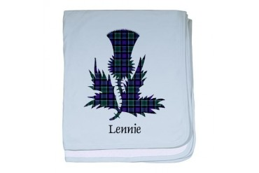 Thistle - Lennie Scottish baby blanket by CafePress